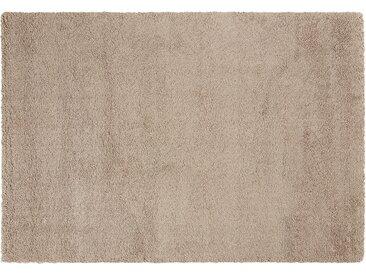 Hochflorteppich - braun - Synthethische Fasern - Sconto