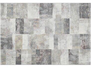 Kurzflorteppich  Argentum - grau - Synthethische Fasern - Sconto