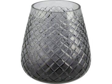 Windlicht - grau - Glas - 15 cm - Sconto