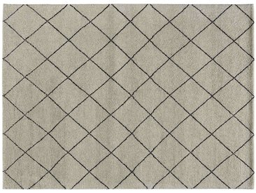 Berber-Teppich - grau - reine Wolle, Wolle - 70 cm - Sconto