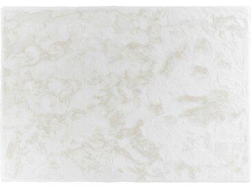 SCHÖNER WOHNEN Hochflorteppich - weiß - Synthethische Fasern - Sconto