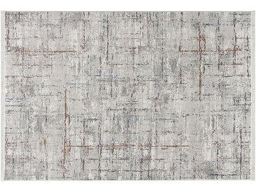 Kurzflorteppich - grau - Synthethische Fasern - Sconto