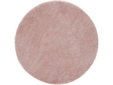 Kinderteppich - rosa/pink - Synthethische Fasern, 100 % Polyester, Suede-Rücken, Lammfellimitat - Sconto