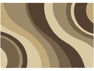 Hochflorteppich  Chantal - beige - Synthethische Fasern - Sconto