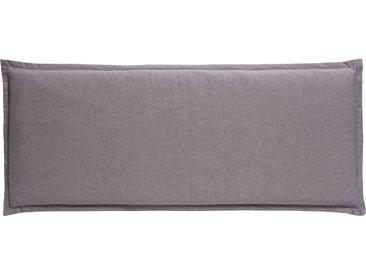 GO-DE Zweisitzer-Bankauflage - grau - Mischgewebe, 85% Baumwolle, 15% Polyester - 48 cm - 6 cm - Sconto