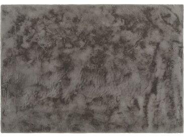 Hochflorteppich - grau - Synthethische Fasern - Sconto