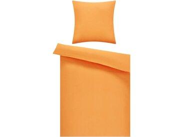 Microfaser Bettwäsche Top Price - orange - 100% Polyester - 135 cm - Sconto