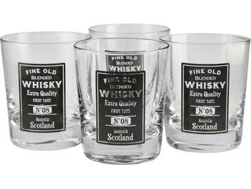 for friends Whiskeygläser, 4er-Set - transparent/klar - Glas - 9,6 cm - Sconto