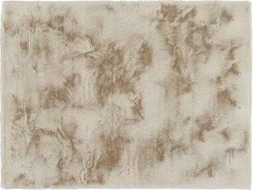 HOME STORY Hochflorteppich - beige - Synthethische Fasern - Sconto