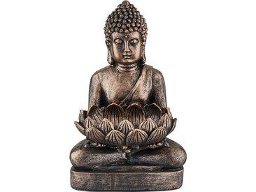 Deko Buddha - kupfer - Polyresin (Kunstharz) - 19 cm - 29,5 cm - 15,5 cm - Sconto