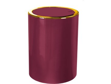 Kleine Wolke Kosmetikeimer Golden Clap Burgund