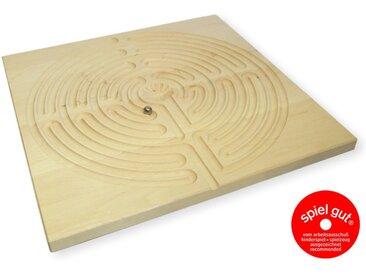 Das Labyrinth von Chartres aus Holz Kugel Balancespiel