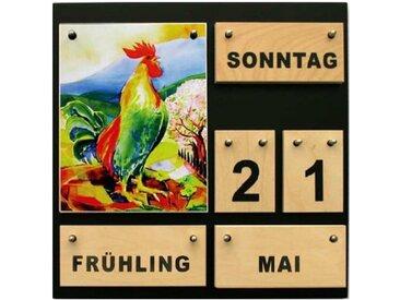 Ewiger Kalender aus Holz Vier Jahreszeiten Dauerkalender Demenzkr