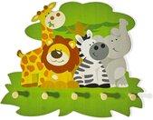 Kindergarderobe Holz Wilde Tiere Garderobe Kinder Elefant Löwe 5
