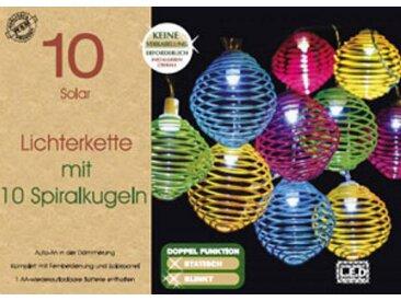 WSM EL150451 Solar Lichterkette mit 10 bunten Spiralkugeln