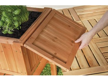 Hochbeet Beet FLORALIS aus Holz Höhe 80cm Inhalt 80 Liter