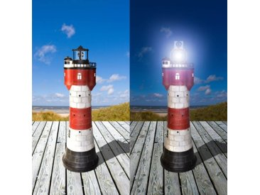 Westerholt 2325-50 Solar Leuchtturm Roter Sand Höhe 50cm aus