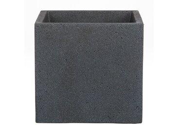 Scheurich C-Cube, Pflanzgefäß aus Kunststoff, Stony Black, 40 cm