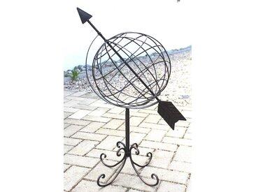 Globus aus Metall 101806 Sonnenuhr aus Schmiedeeisen 72 cm