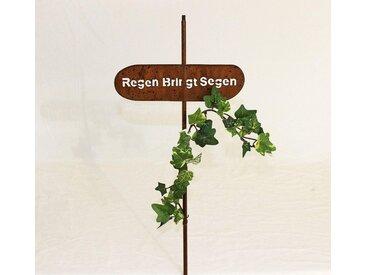 """Rankhilfe Gartenstecker """"Regen bringt Segen"""" H-120 cm"""