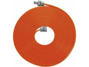 Schlauchregner 15m mit Armaturen, Farbe: orange mit Armaturen