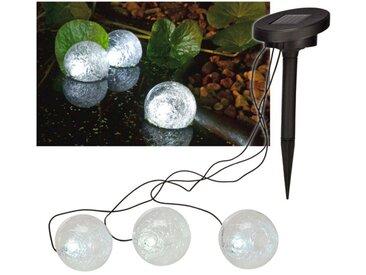 Solar Teichlampe Teichkugeln 3er Set Durchmesser 90mm mit