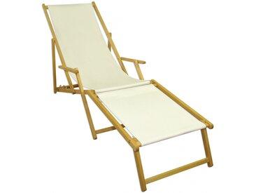Sonnenliege weiß Liegestuhl klappbare Gartenliege Deckchair