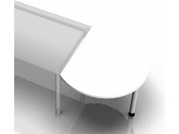 XBA80 W - Ansatztisch 80x100 Weiß