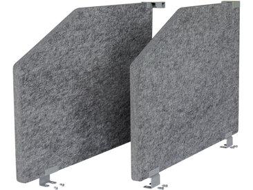 ARS 2 | Akustik-Seitenwand | Grau meliert - 80 cm