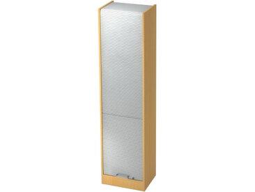 SIGNA R50 CE - Buche/Silber Rollladenschrank 5 OH Chromgriff Metall