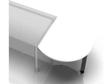 RA80 G - Ansatztisch 80x100 Weiß