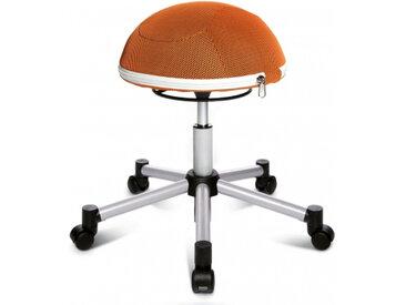 HALF BALL - Arbeitsstuhl Arbeitshocker Silber/Orange
