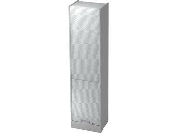 SIGNA R50 CE - Grau/Silber Rollladenschrank 5 OH Chromgriff Metall