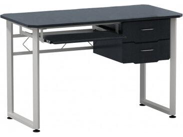 WORKFLOW | 120x60 - Schreibtisch Graphit / Weiß