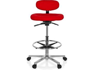 WORK MF - Arbeitsstuhl Arbeitshocker Rot