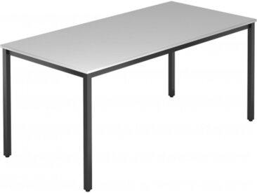 DORAN DQ16 C - Grau 160 x 80 mit Vierkant-Rohr/Schwarz