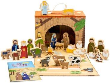 YOAMO Adventskalender, mit 24 hochwertige Vollholz Spielfiguren