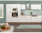 respekta Küchenzeile Eiche York 280/310/340/370cm (Breite 370cm, Weiß)