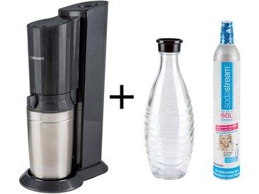 Sodastream Wassersprudler »Crystal«, 0,6 l Glaskaraffe, Aluminiumzylinder für 60 l Wasser