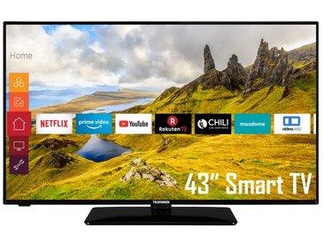 TELEFUNKEN D43F551N1CW 43 Zoll Fernseher (Smart TV, Prime Video / Netflix, Full HD, Triple-Tuner)