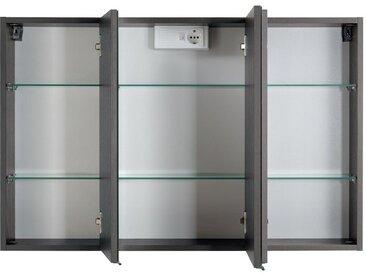 HELD Spiegelschrank »Bologna«, mit 3 Spiegeltüren, 6 Glas-Einlegeböden, LED-Einbauleuchte