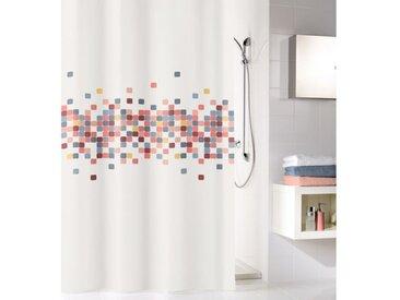Kleine Wolke Duschvorhang »Cora«, 180x x 200 cm, doppelter Saum, Karo-Bordüre