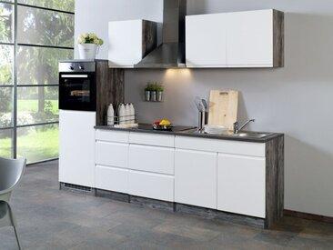 HELD Küchenzeile »Cardiff«, Leerblock, B 270 cm, mit Einbaubecken, Selbstmontage