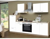 Menke Küchenblock Classic Leerblock 270/280/300/310cm (frei Bordsteinkante, Weiss, 270 cm (ohne GS-Blende))