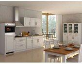 HELD Küchenzeile Rom 290/300/330cm (weiß/eiche sonoma, Breite 290 cm)
