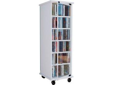VCM CD/DVD-Turm Valenza drehbar für 300 CDs (Weiß)