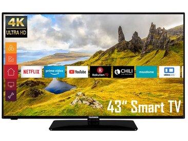 TELEFUNKEN D43U551N1CW 43 Zoll Fernseher (Smart TV, Prime Video / Netflix, 4K UHD mit Dolby Vision HDR / HDR 10, Triple-Tuner, HD+)