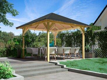 Karibu Pavillon »Chur 1«, mit Massivholz-Pavillon, mit oder ohne H-Anker und Dachschindeln