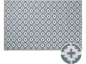 Butlers - COLOUR CLASH In- & Outdoor-Teppich Mosaik L 180 x B 118cm - Salbei