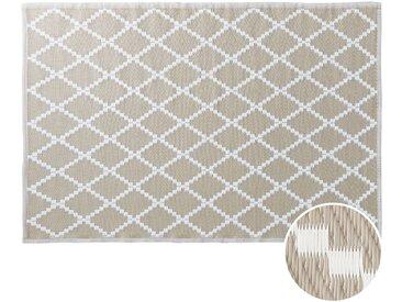 Butlers - COLOUR CLASH In- & Outdoor-Teppich Rauten L 180 x B 118cm - Natur